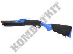 M18 Shotgun Pump Action Airsoft BB Gun Black and Blue